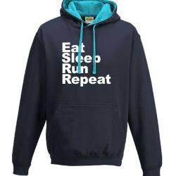 running hoodies Eat Sleep Run Repeat