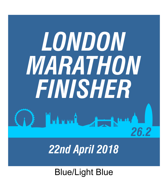 london marathon finisher coaster skyline blue