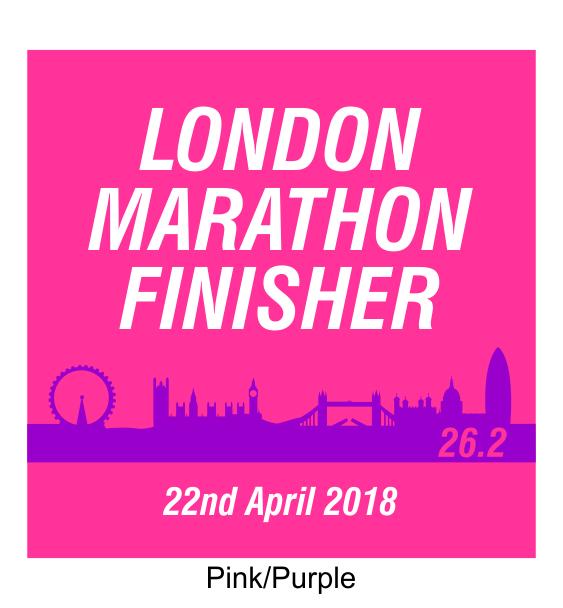 london marathon finisher coaster skyline pink
