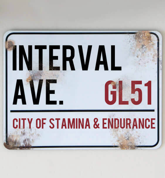 metal street sign custom running 3