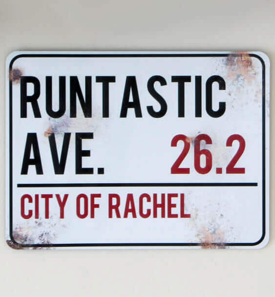 metal street sign custom running 4