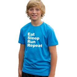 Kids running t-shirts eat sleep run repeat