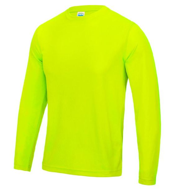 long sleeve runnind mens yelo
