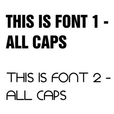 Custom fonts bibs