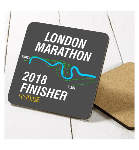 london marathon finisher coaster route 1