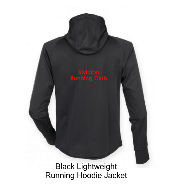 swinton running hoodie jacket black back