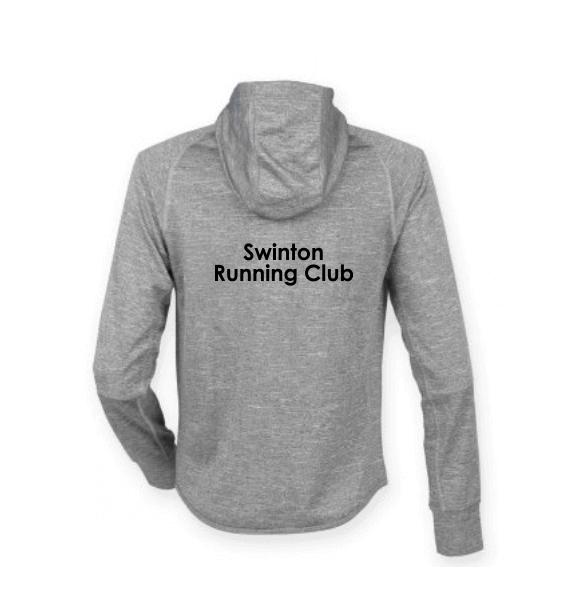 Swinton RC Running Hoodie Back Grey