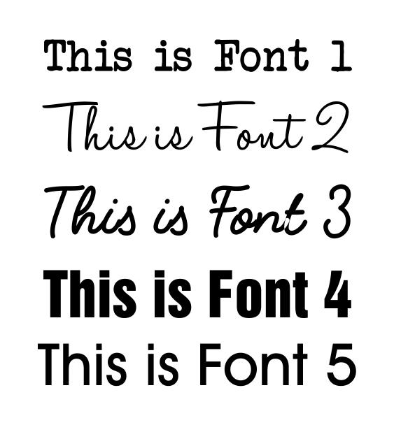 metal trainer fonts