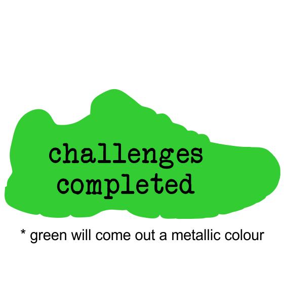 metal trainer green sample