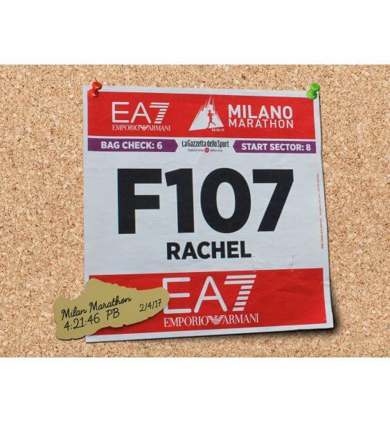 metal trainer race number