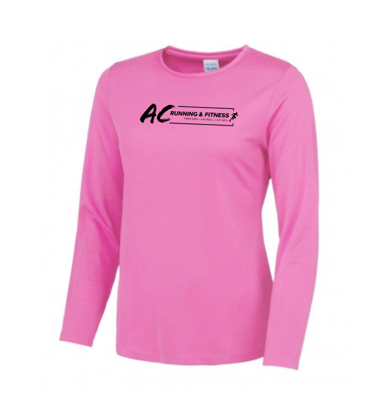 AC running long sleeve electric pink
