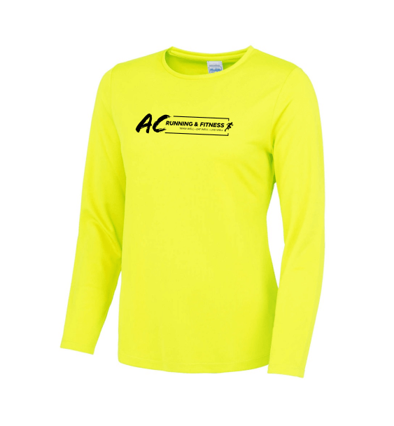 AC running long sleeve electric yellow
