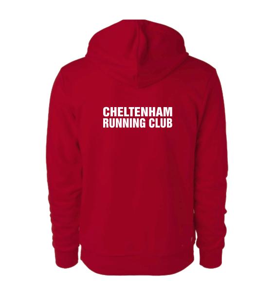 cheltenham running club hoodie back