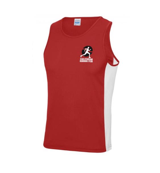 cheltenham running club mens contrast vest