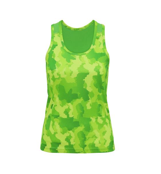 td hex ladies vest green