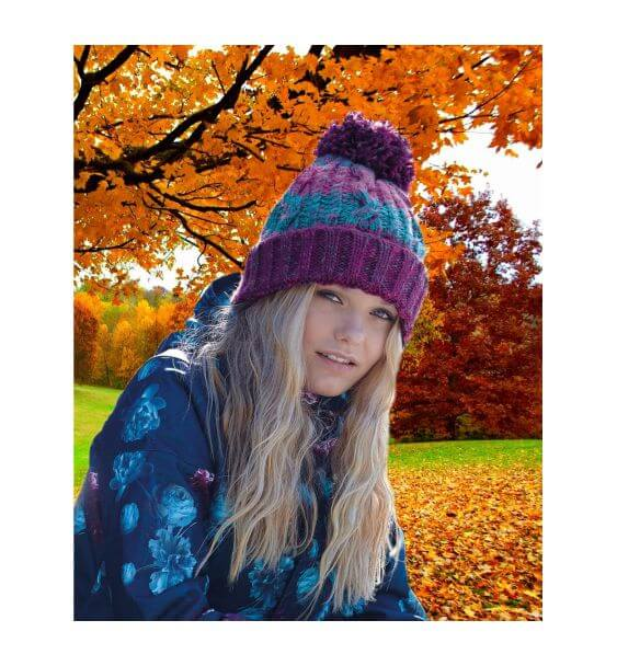 0d1ada7428d Pom Pom Beanie. Fun and warm with 7 colours to choose from for ...