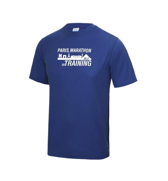 Paris-in-Training-Marathon-mens-tshirt-blue