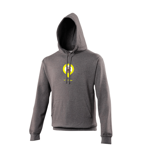 With Meow charcoal hoodie