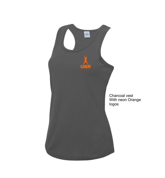 upper beeding runner charcoal vest
