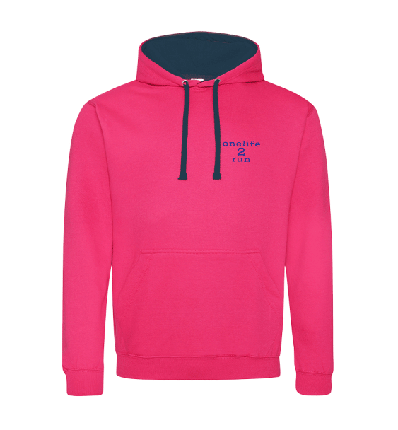 one-life-2-run-pink-hoodie-front