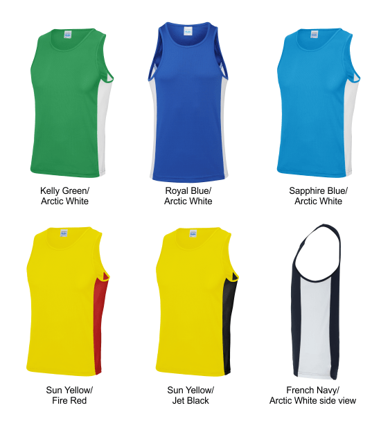 Mens contrast vest colours 2