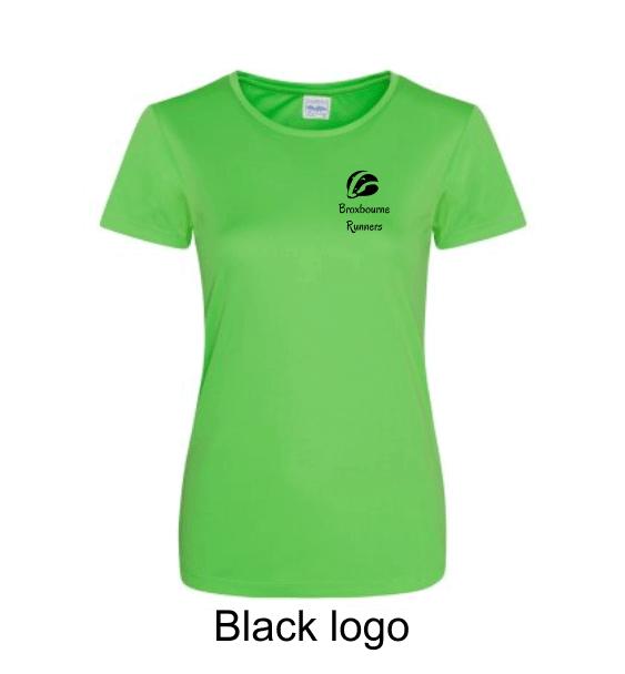 Broxbourne-Runners-lime-tshirt-front-black