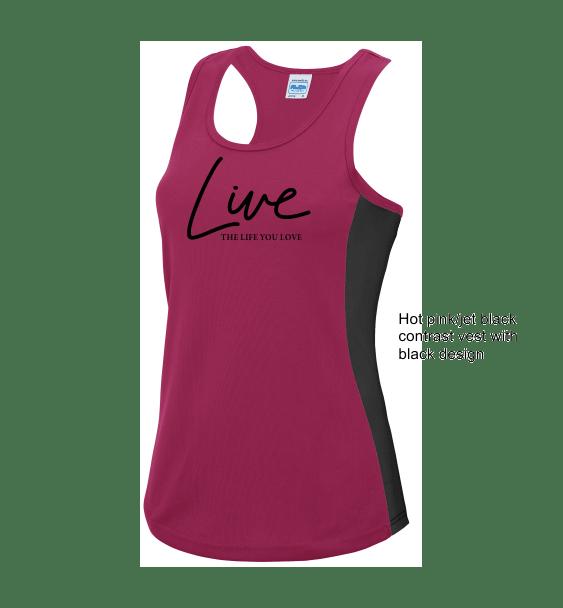 live-the-life-you-love-ladies-hot-pink-black-vest