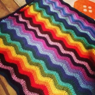 a bit of crochet - ripple blanket