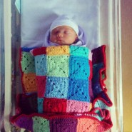 Snuggly crochet blanket goodness - this is the perfect size for his pram