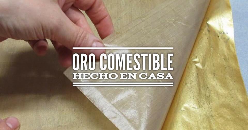 DIY: FALSAS LÁMINAS DE ORO COMESTIBLE