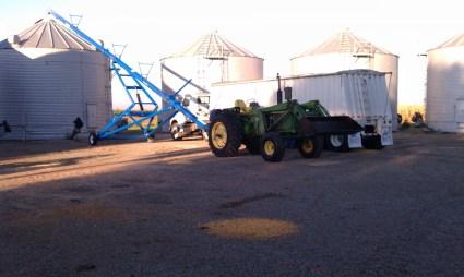 Filling corn bins in 2011
