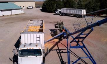 Putting corn in the bin 2011