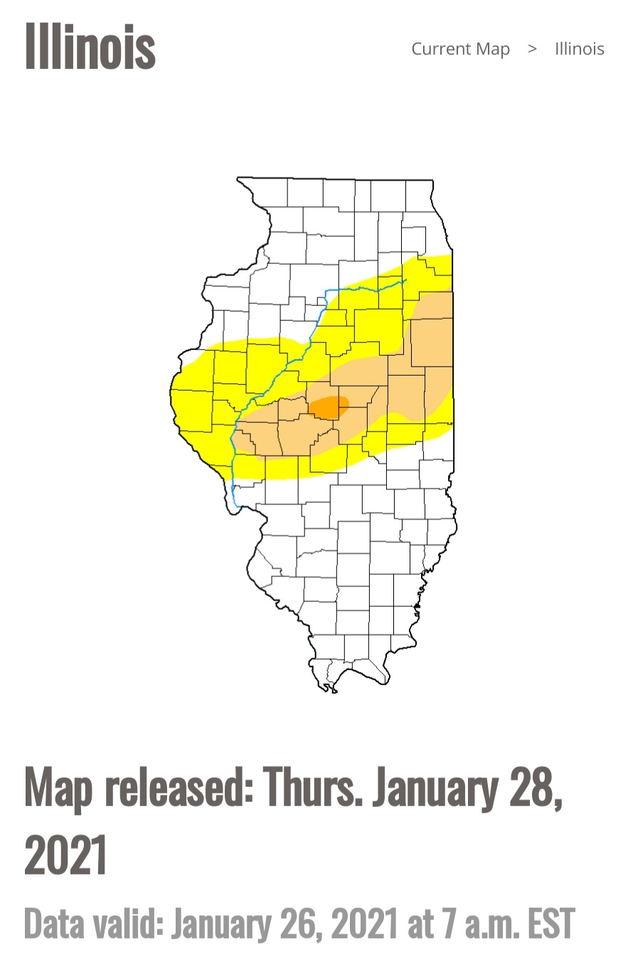 1-28-21 Drought Map