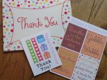Sweet thank you card with some aweome extras!!