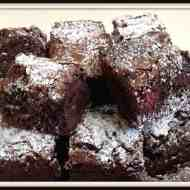 Ultimate Chocolate Brownie – With Raspberries
