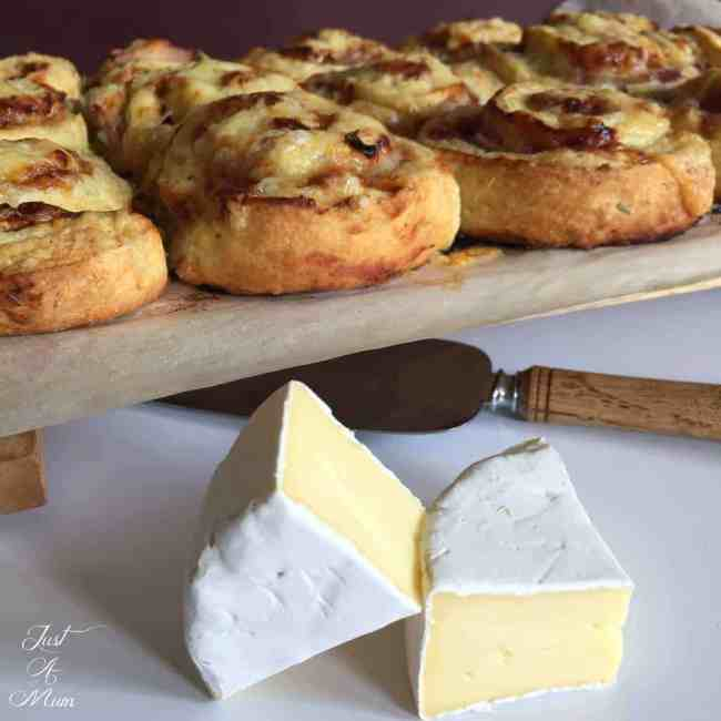 Chicken, Camembert & Plum Sauce Pinwheels