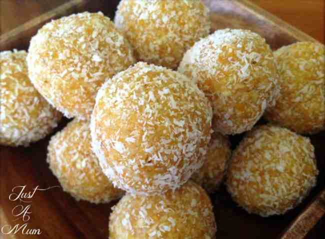 Just A Mum's Apricot & Coconut Bliss Balls