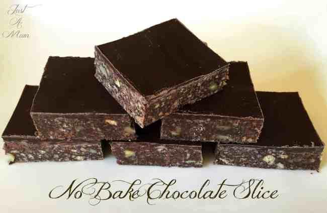 Just A Mum's No Bake Chocolate Slice