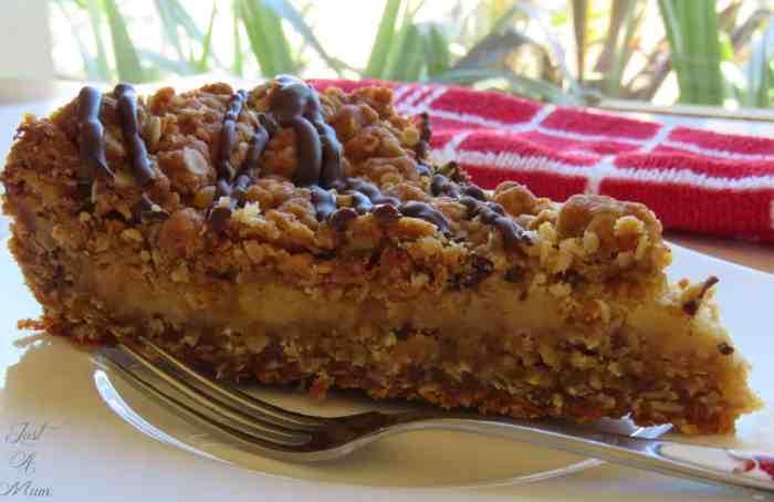 ANZAC Caramel Slice - Just A Mum