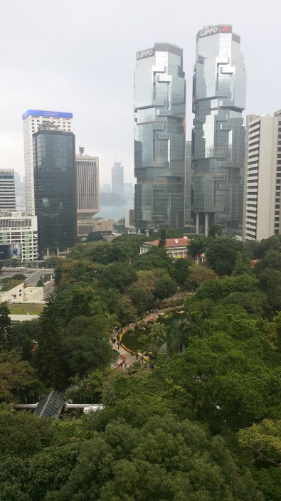 View from the vantage point in the park towards Kowloon