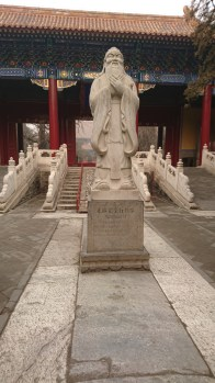 Statue of Confucius in the temple dedicated to him