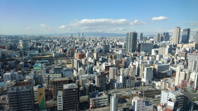 Views of Osaka from the top (so many buildings)!