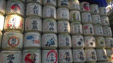 Sake wrapped in straw