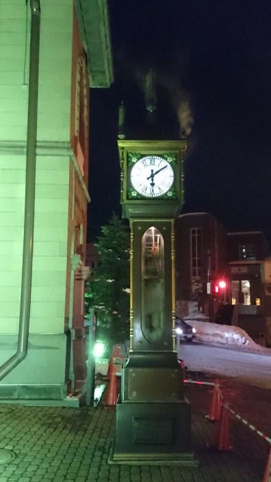 Steam-powered clock!