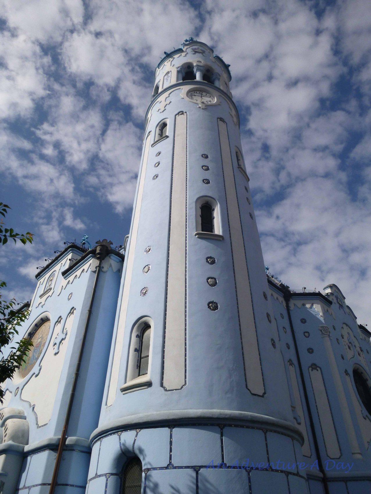 The exquisite Church of Saint Elizabeth in Bratislava.