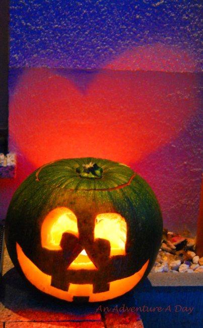 The pumpkins didn't get enough sun over the summer.