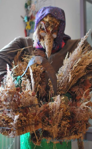 Another exhibit in the folk art museum shows a traditional costume. Across southern Germany and Bavaria, as well as many areas in the Alps, masks play an integral part in many festivals. The masks themselves are often intricate works of art.