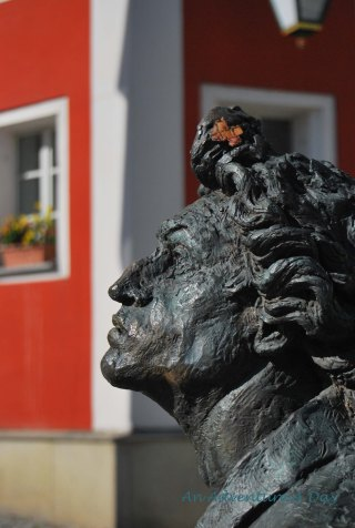 This statue stands in front of the Rathouse in Burglengenfeld.