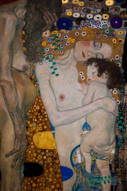 This beautiful work by Gustav Klimt is on display at the Museum of Modern Art in Rome.