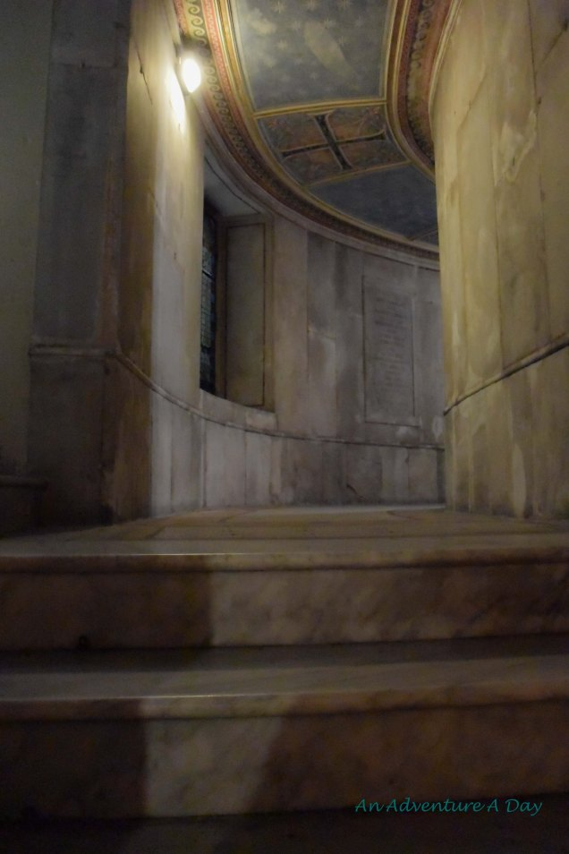 These stairs led around the back to another small alcove.